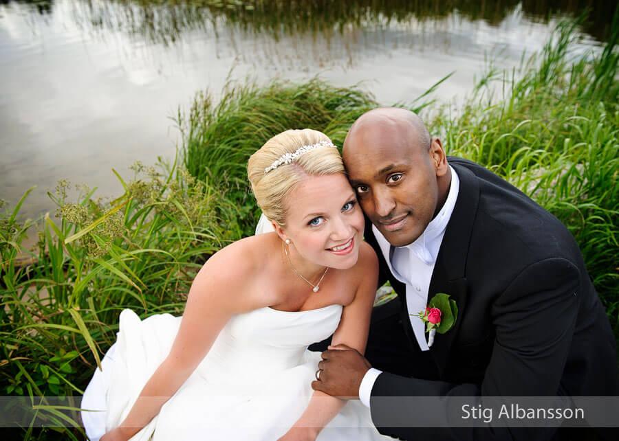 Bröllopsfoto på Aludden i Lerum