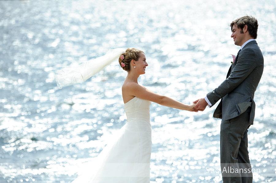 bröllop Marstrand, brudpar