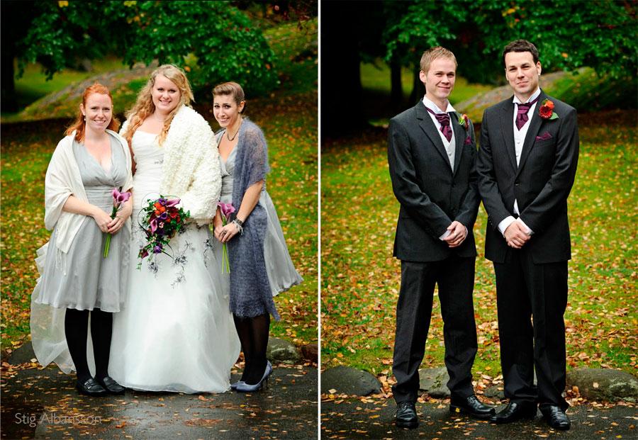 bröllopsfölje Kielers park