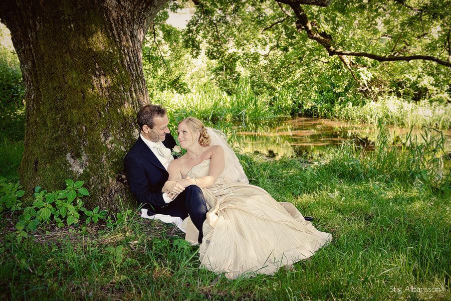 Bröllopsfotografering Villa Överås, Örgryte.