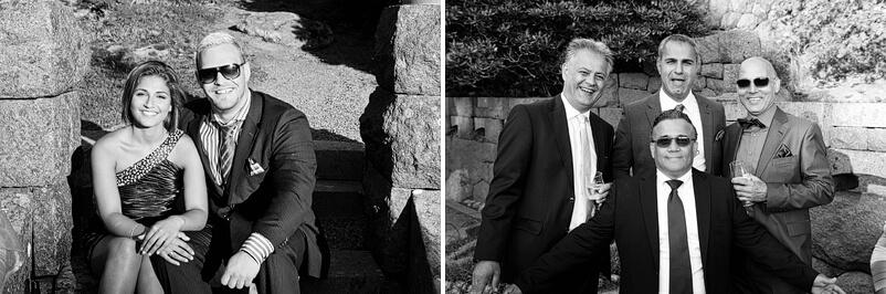 Spontana bilder på bröllopsgästerna.