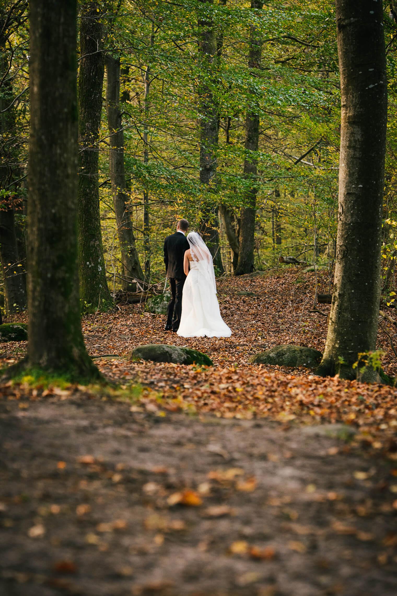 brudpar höst skog