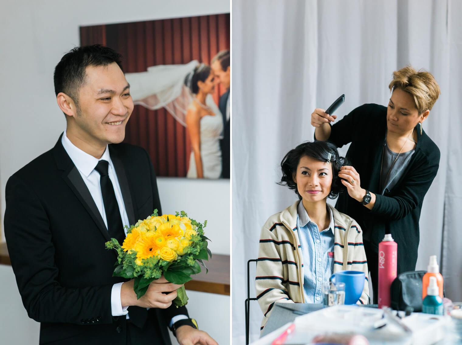 hair pre wedding