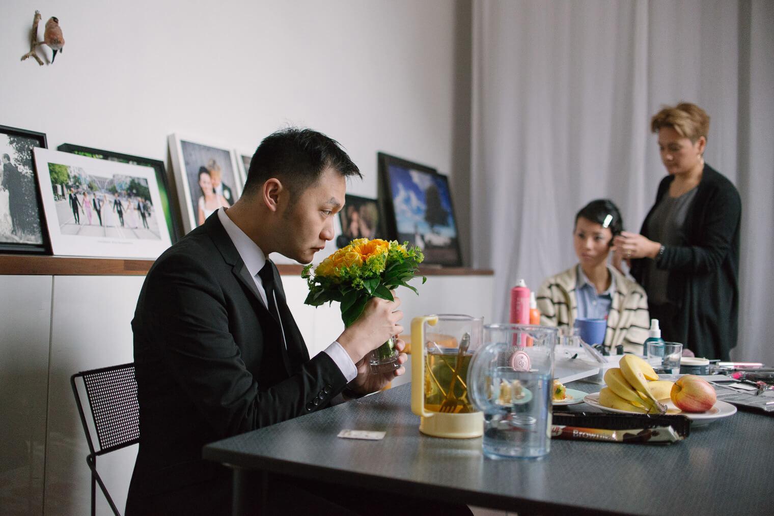 pre wedding preparation in studio