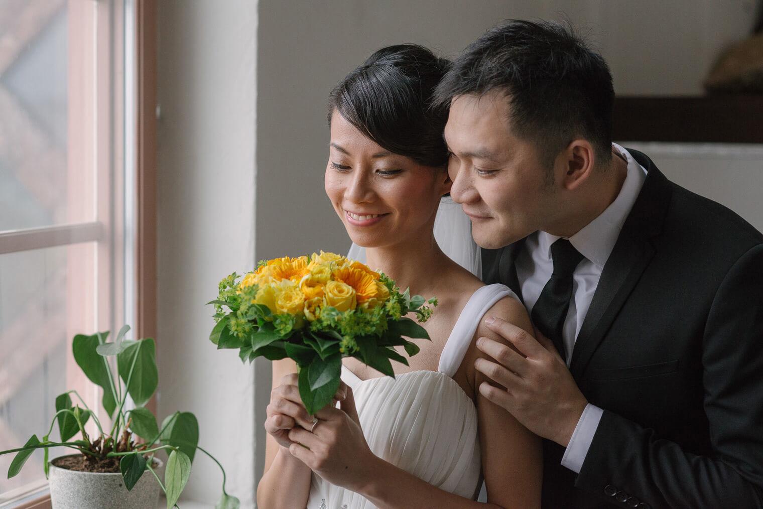 flowers couple