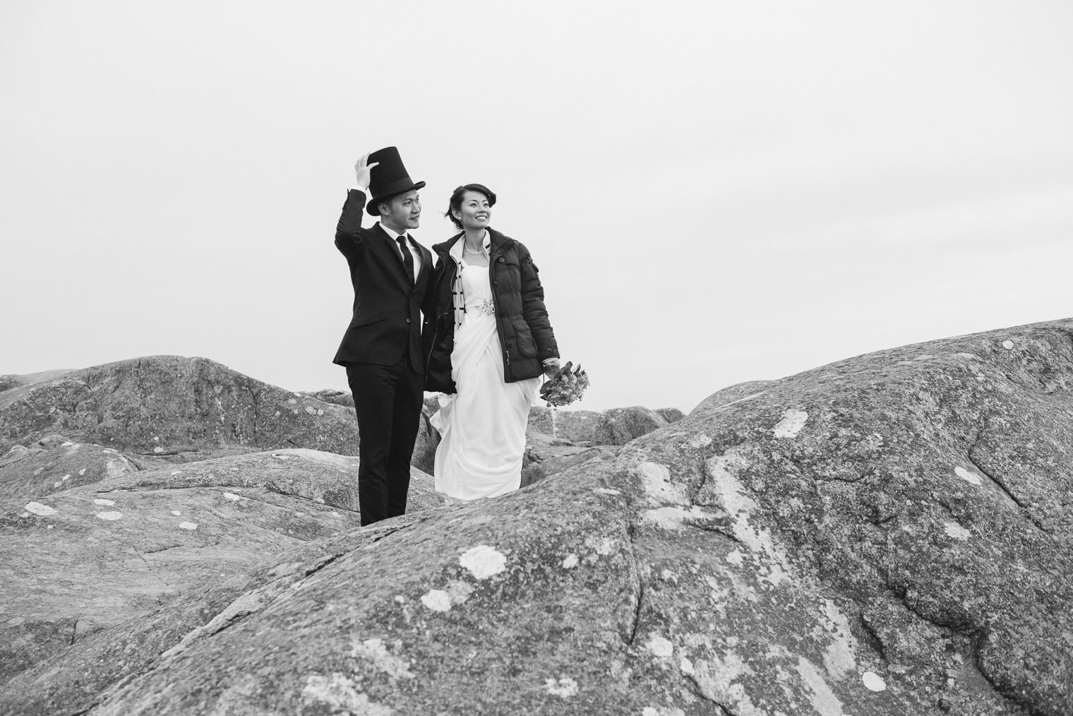 Pre Wedding photo at the sea gothenburg sweden